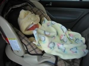 beba u autosedistu