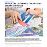 Besplatne udžbenike trajno dati siromašnoj deci