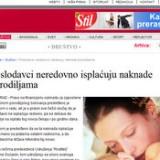 Poslodavci neredovno isplaćuju naknade porodiljama