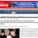 Roditelji: Đorđe zbog alkohola pao kroz prozor