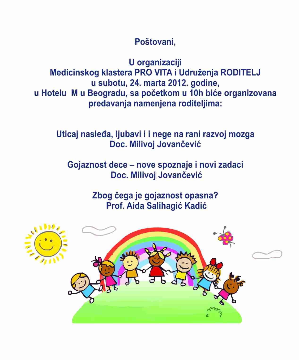 Udruzenje RODITELJ - predavanja za roditelje