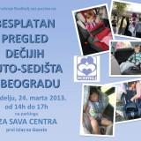 Besplatan pregled auto-sedišta kod Sava centra