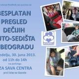 Novi besplatan pregled auto – sedišta u Beogradu