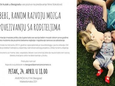 Predavanje Nine Sokolović o razvoju bebinog mozga i ranom povezivanju