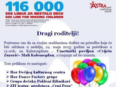 Broj 116 000 – za prijavu nestale dece