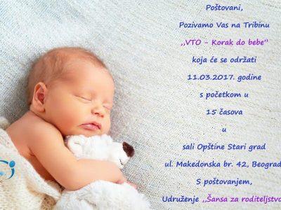 "Tribina ""VTO, korak do bebe"" Udruženja ""Šansa za roditeljstvo"""